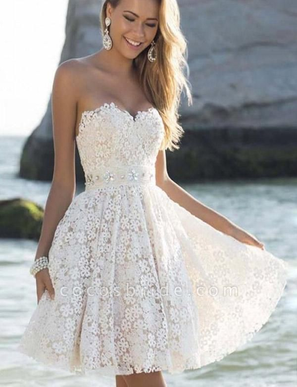 Fabulous Sweetheart Lace A-line Homecoming Dress