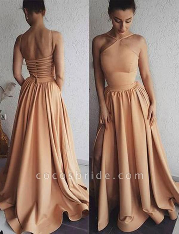 Excellent Spaghetti Straps A-line Evening Dress