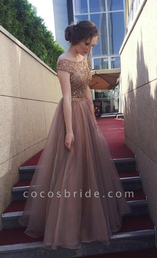 Elegant Tulle A-line Prom Dress