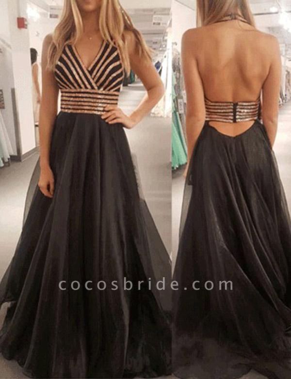 Fabulous Halter Tulle A-line Prom Dress