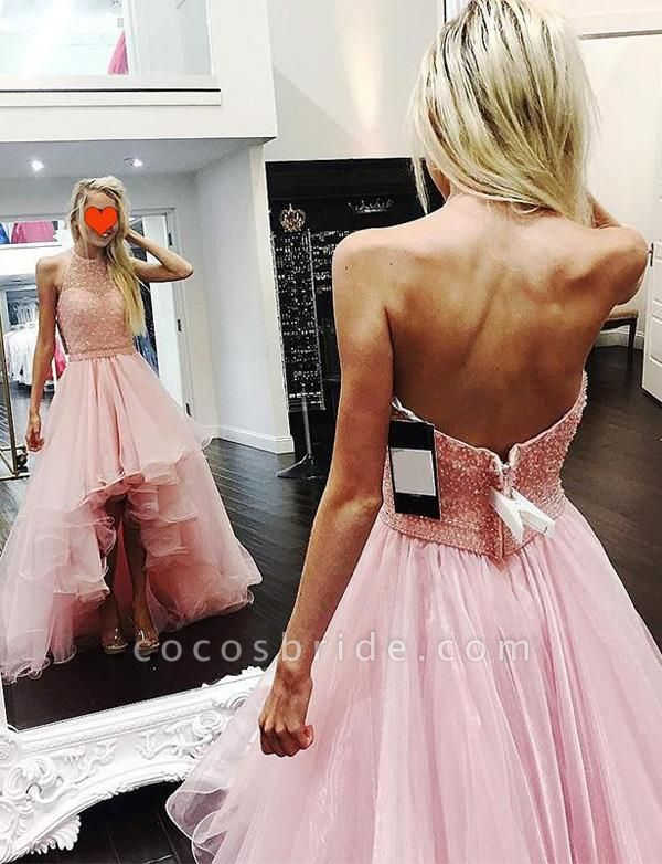 Awesome Halter Tulle A-line Prom Dress