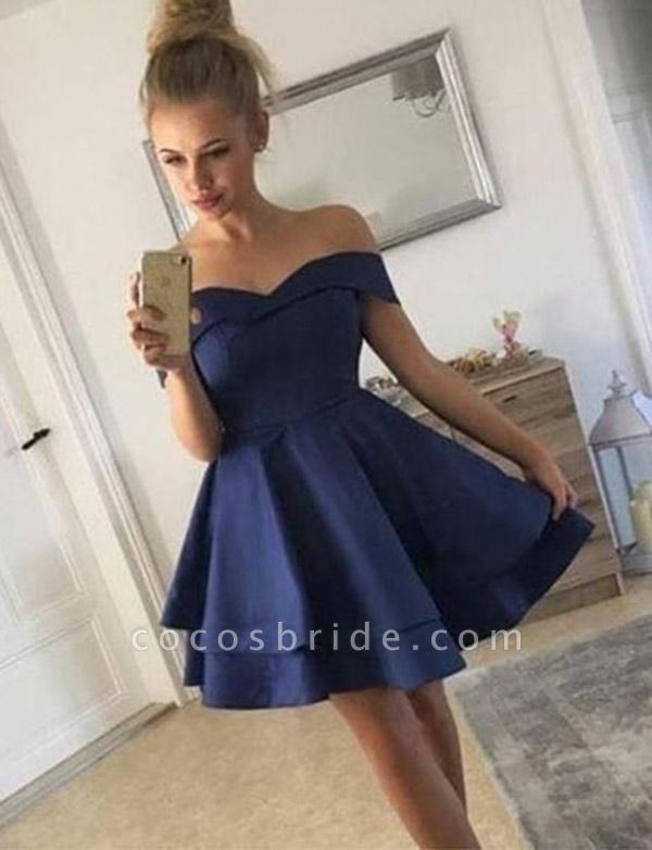 Modest Off-the-shoulder Cocktail Dress