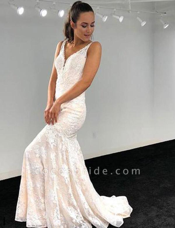 Best V-neck Lace A-line Evening Dress