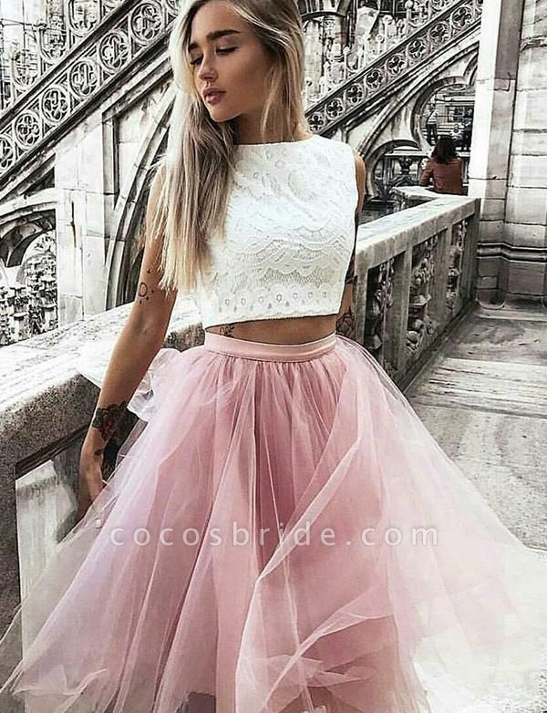 Latest Jewel Tulle A-line Homecoming Dress