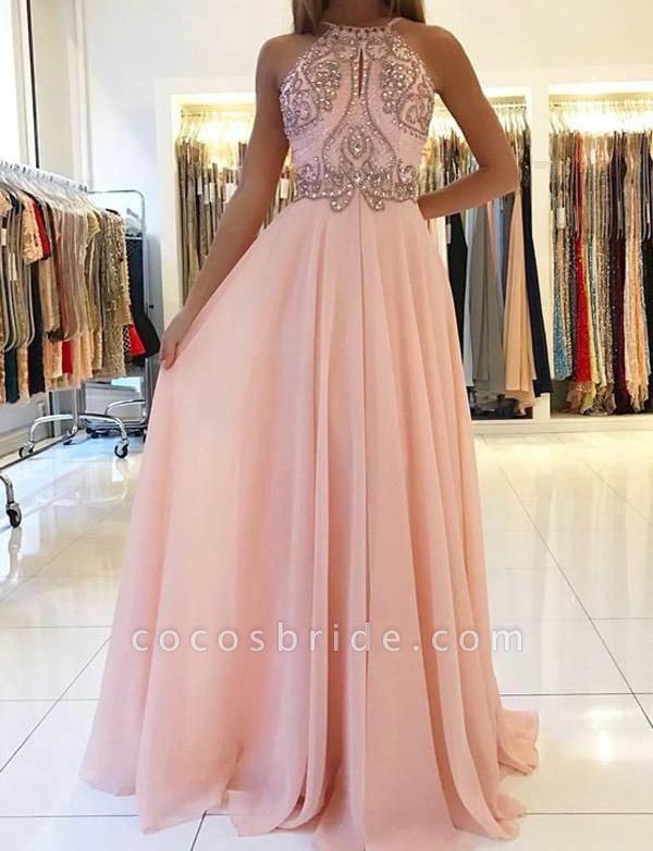 Beautiful Spaghetti Straps Beading A-line Prom Dress