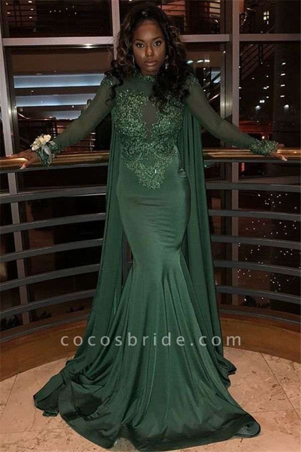 Elegant Jewel Stretch Satin Mermaid Prom Dress
