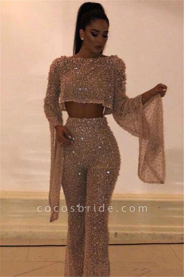 Excellent Jewel Crystal Evening Dress