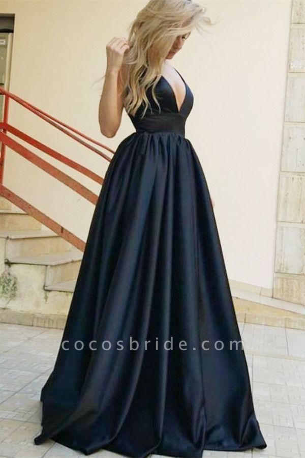 Beautiful Straps Satin A-line Prom Dress