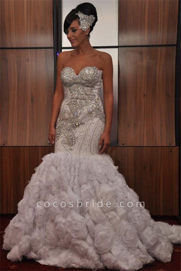 Marvelous Strapless Organza Mermaid Prom Dress