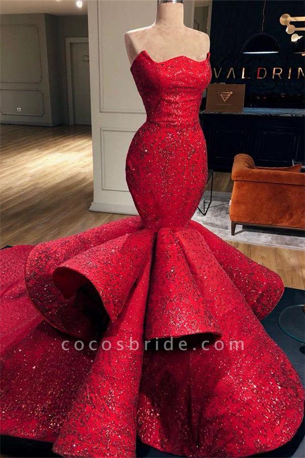 Fabulous Strapless Appliques Mermaid Prom Dress