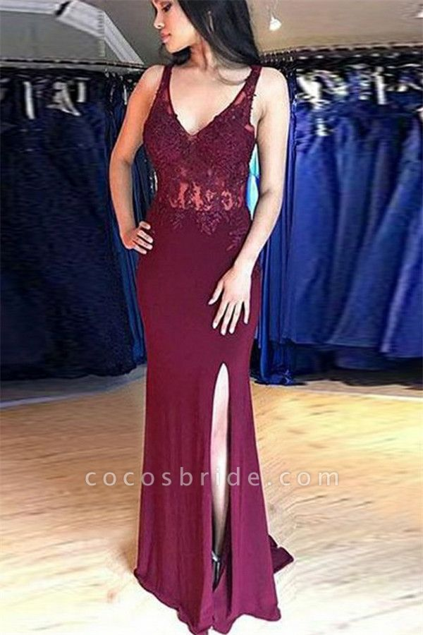Latest Straps Satin Mermaid Prom Dress