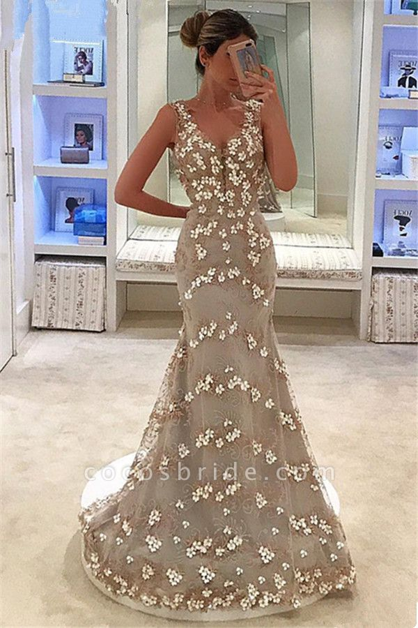 Fascinating Straps Tulle Mermaid Prom Dress
