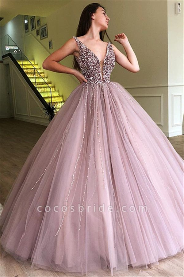 Amazing Straps Tulle Ball Gown Prom Dress