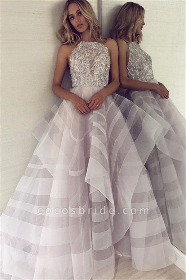 Fabulous Halter Organza A-line Prom Dress