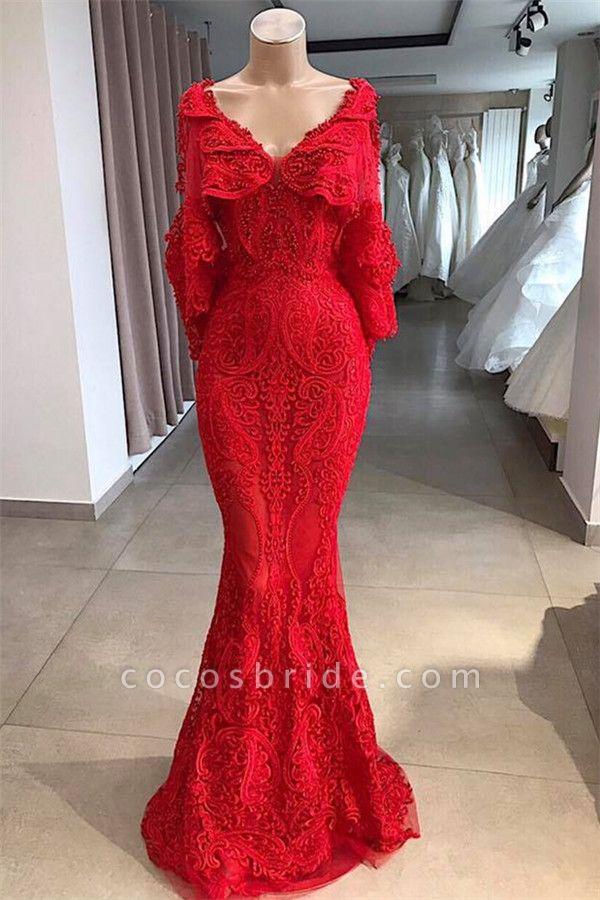 Wonderful V-neck Beading Mermaid Prom Dress