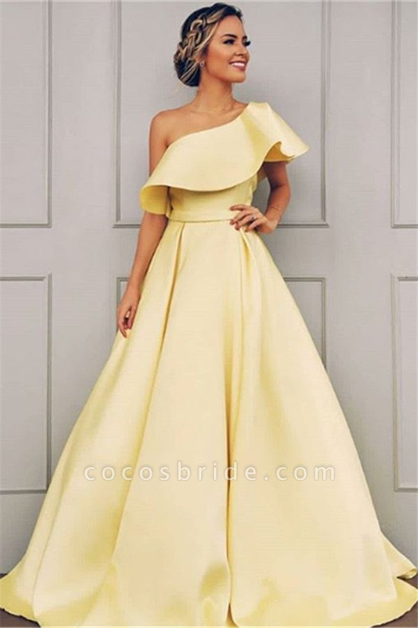 Glorious One Shoulder A-line Prom Dress