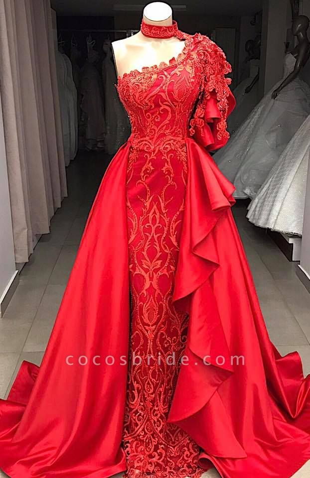 Amazing One Shoulder Appliques A-line Prom Dress