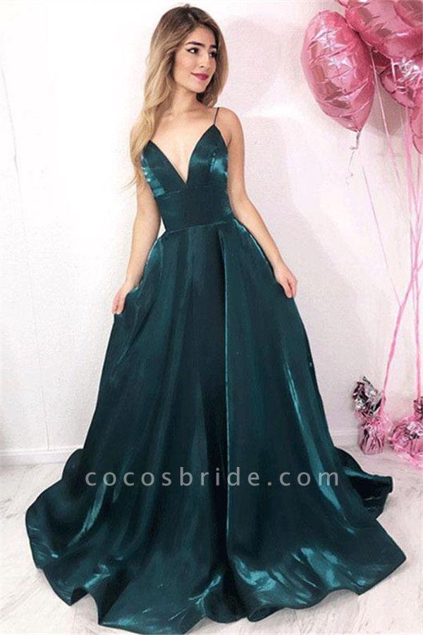Precious V-neck A-line Prom Dress