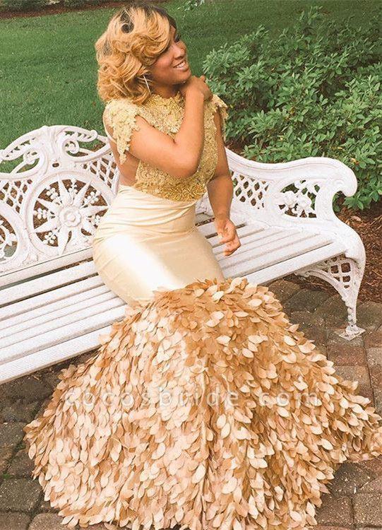 Best Jewel Appliques Mermaid Prom Dress