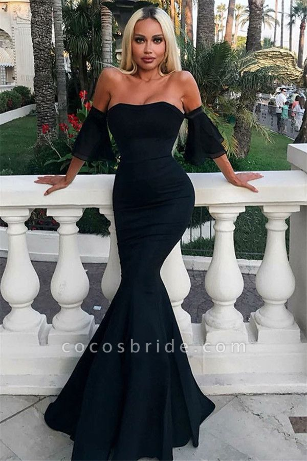 Eye-catching Off-the-shoulder Mermaid Prom Dress