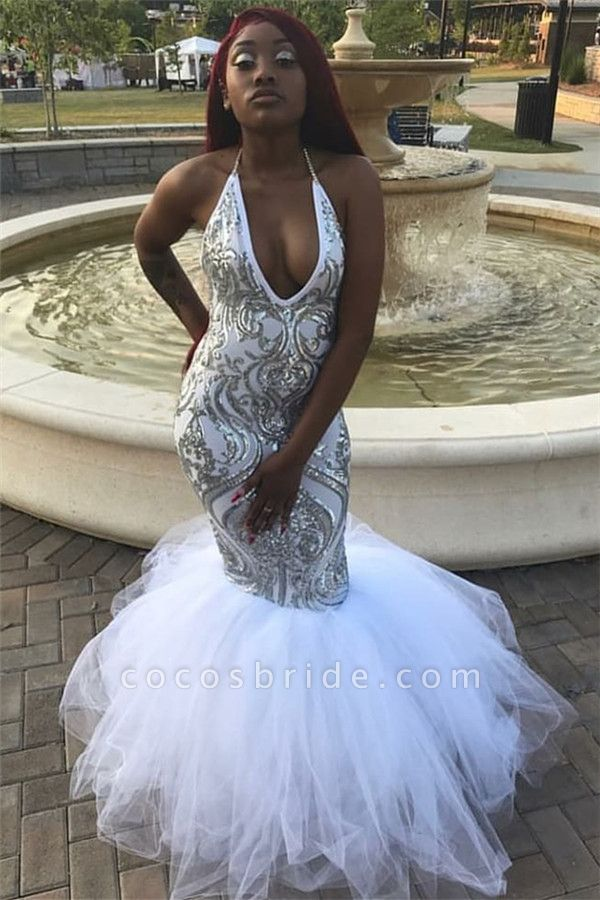 Awesome Halter Appliques Mermaid Prom Dress