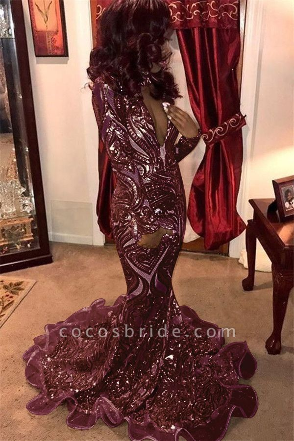 Awesome V-neck Appliques Mermaid Prom Dress