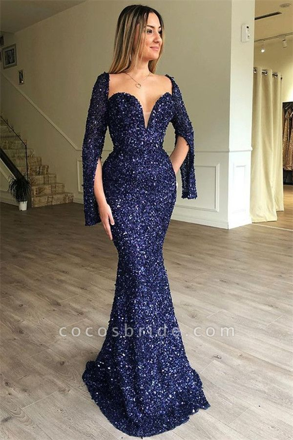 Excellent Sweetheart Sequined Mermaid Prom Dress