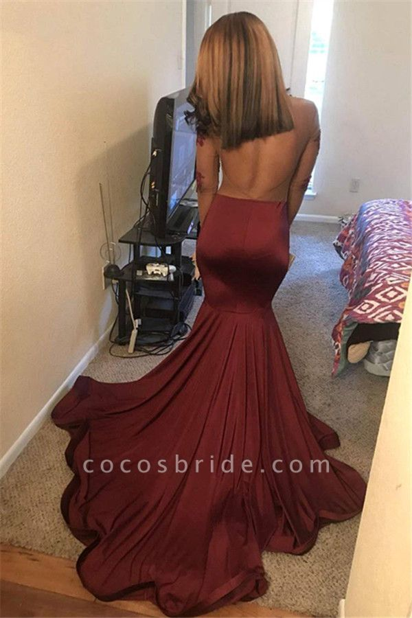 Amazing Jewel Appliques Mermaid Prom Dress