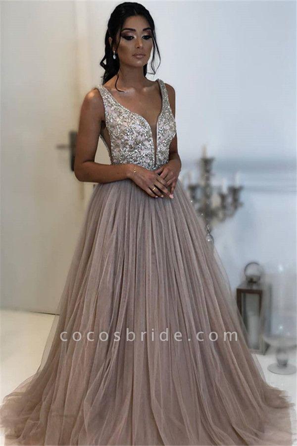 Precious Straps Appliques A-line Prom Dress
