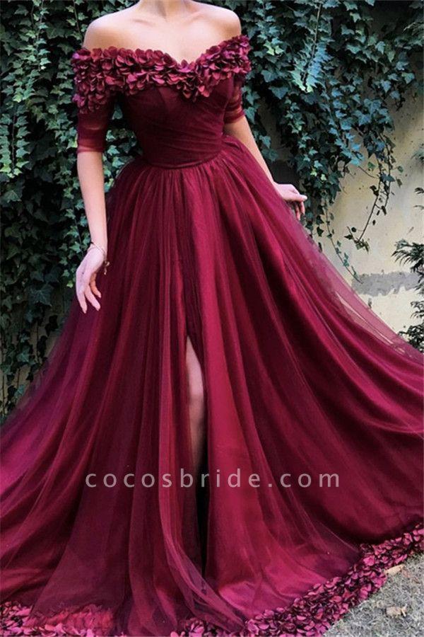 Glorious Off-the-shoulder Appliques A-line Prom Dress