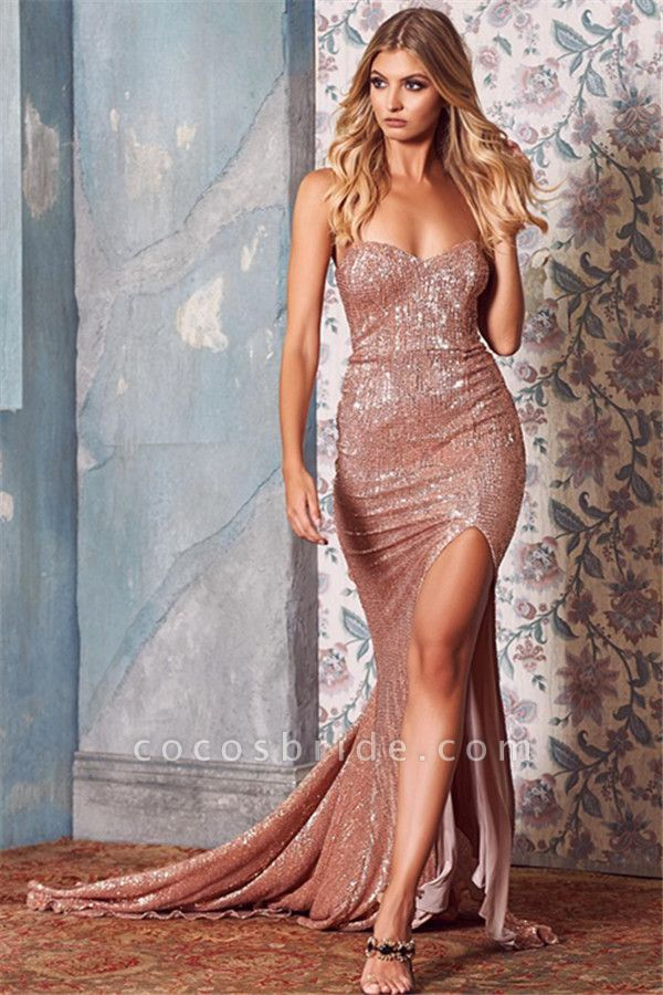 Amazing Sweetheart Sequined Mermaid Prom Dress