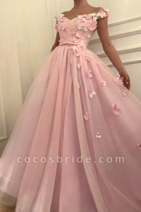 Fascinating Off-the-shoulder Flower(s) A-line Prom Dress