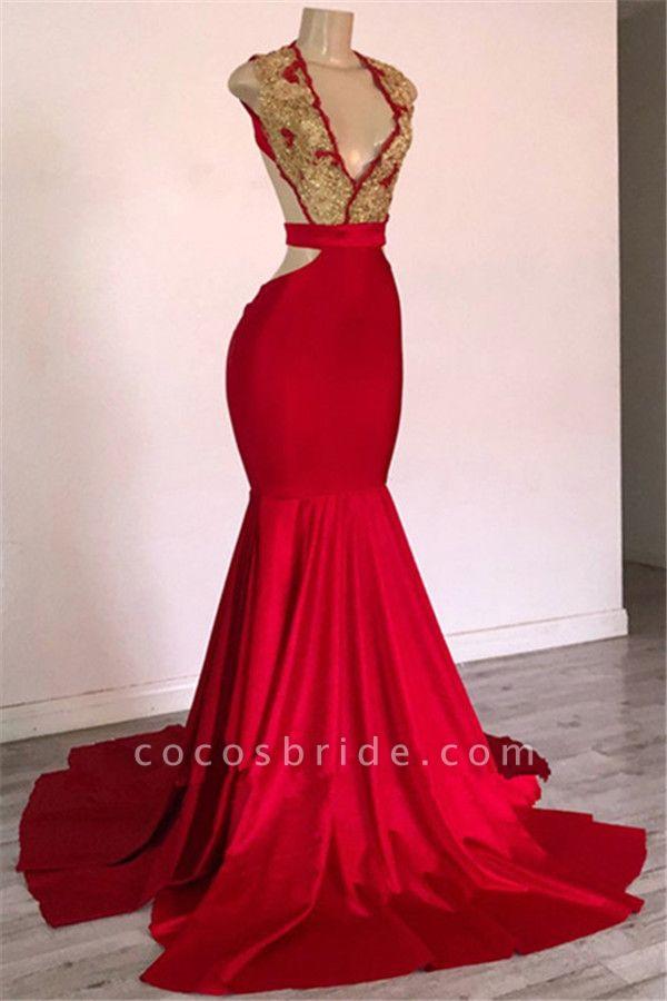Fascinating Straps Appliques Mermaid Prom Dress