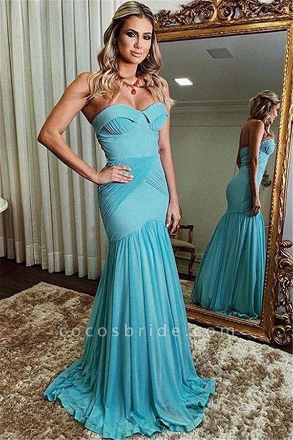 Eye-catching Strapless Ruffles Mermaid Prom Dress