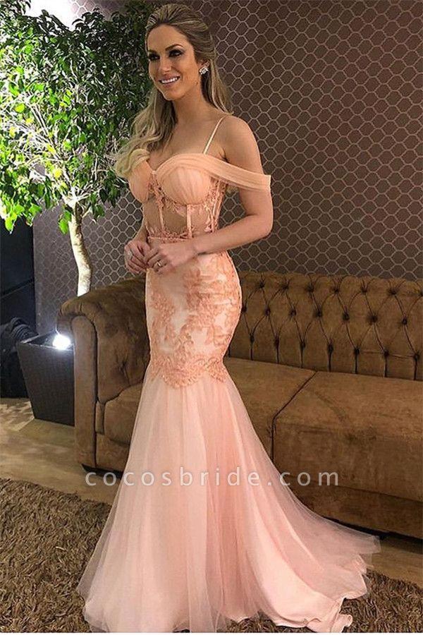 Wonderful Off-the-shoulder Lace Mermaid Prom Dress