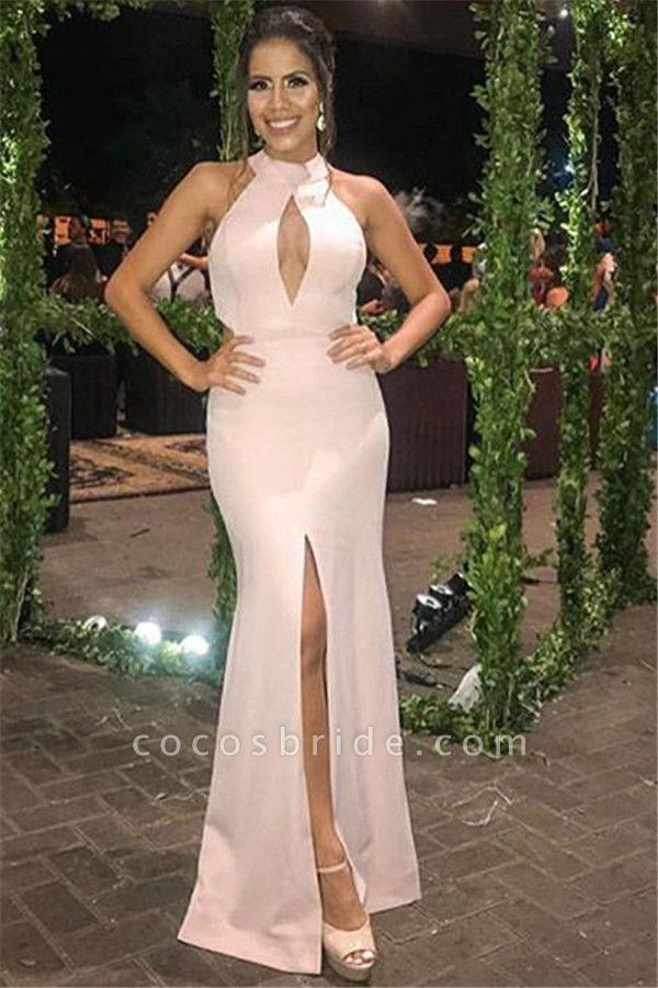 Marvelous Halter Split Front Mermaid Prom Dress