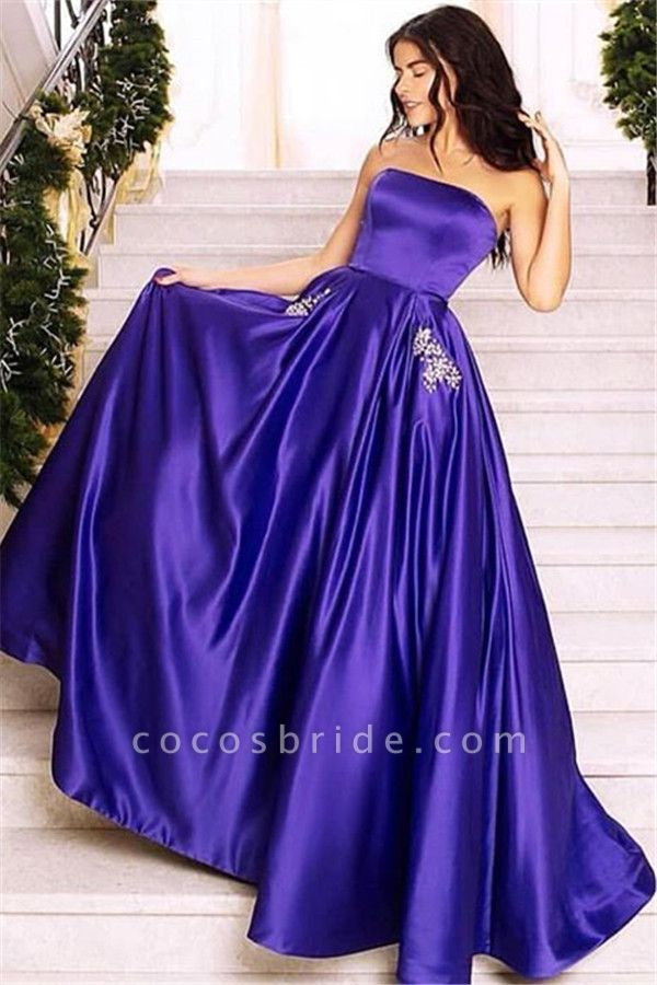 Fabulous Strapless Appliques A-line Prom Dress