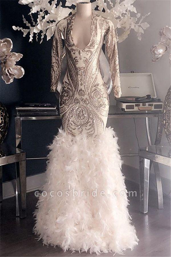 Fabulous V-neck Appliques Mermaid Prom Dress