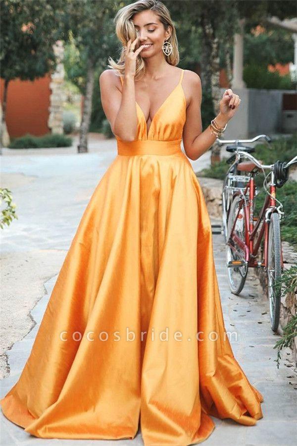 Wonderful Spaghetti Straps Ruffles A-line Prom Dress
