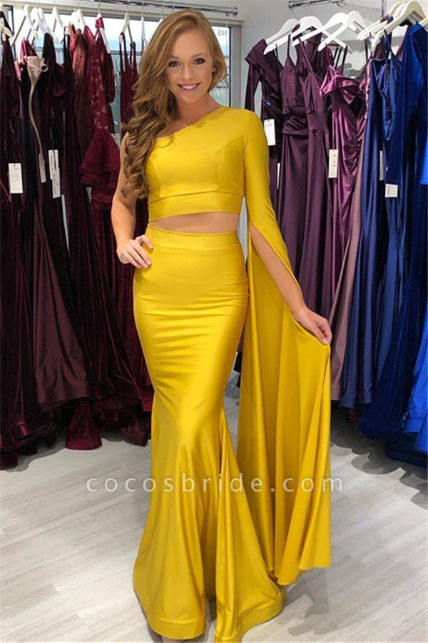 Exquisite One Shoulder Mermaid Prom Dress