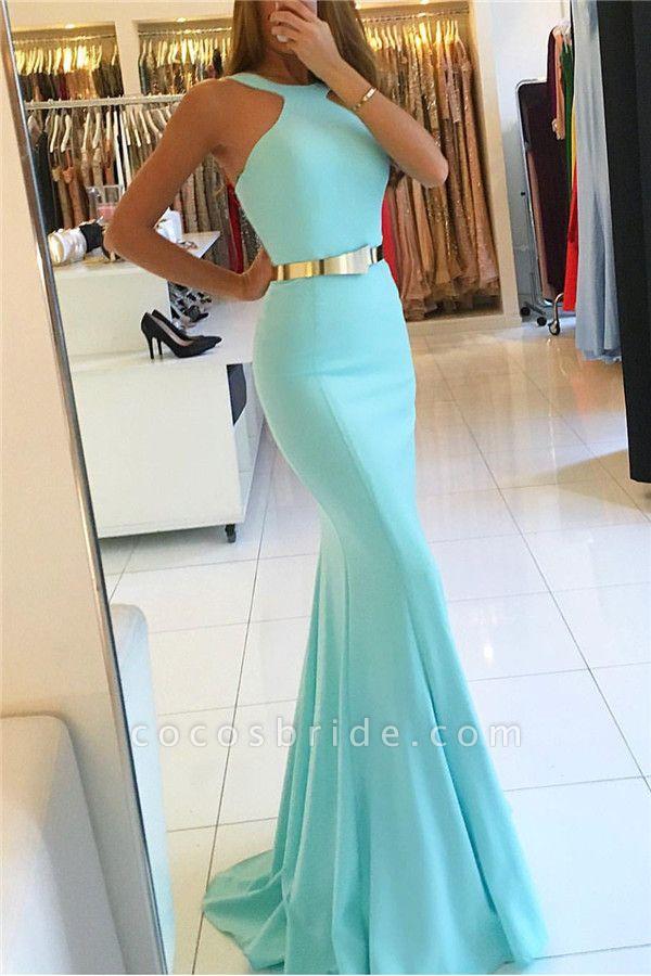 Modest Halter Ribbons Mermaid Prom Dress