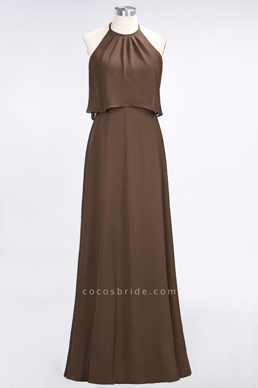A-Line Chiffon Jewel Sleeveless Floor-Length Bridesmaid Dress