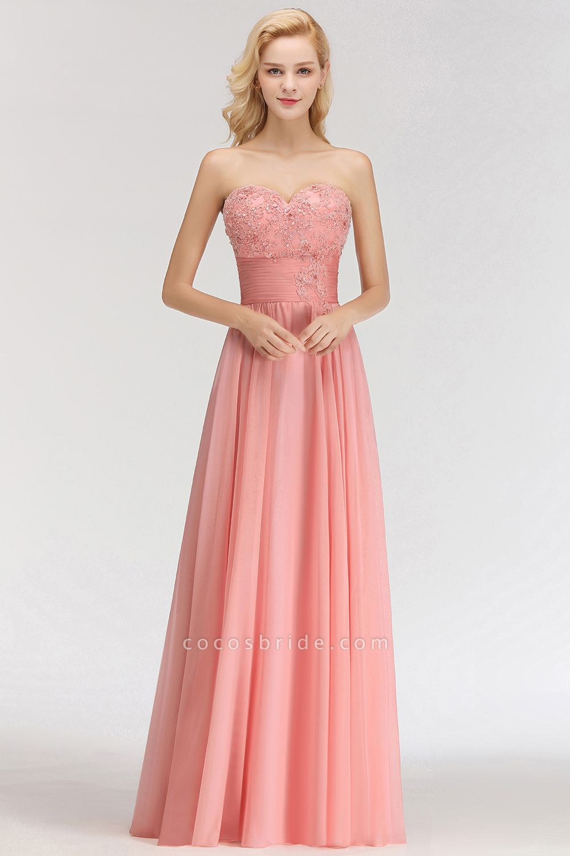 BM0083 Sexy Sweetheart A-Line Appliques Long Bridesmaid Dress