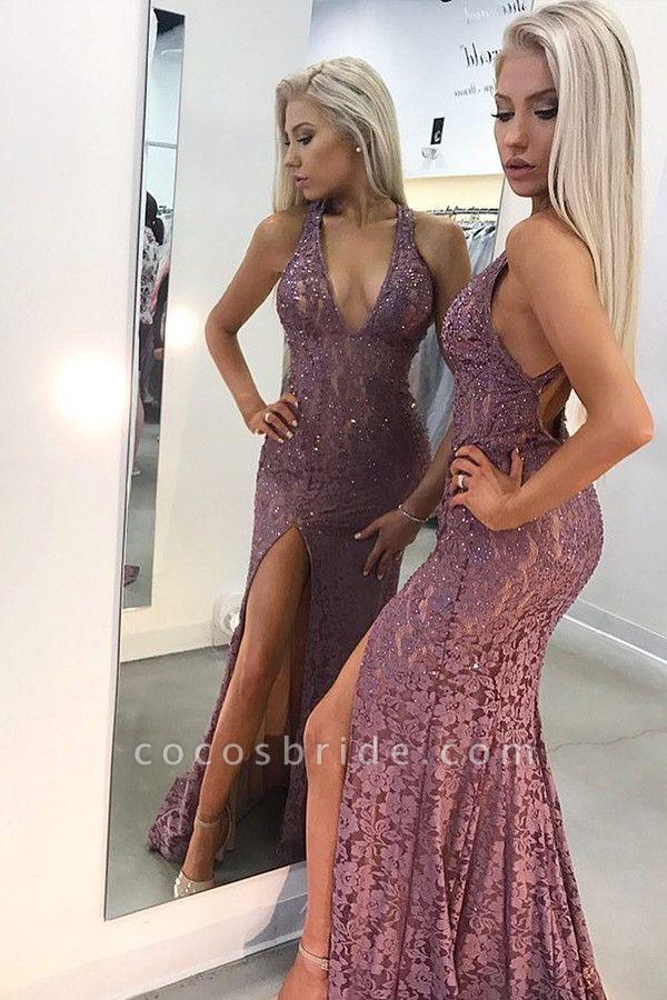 Latest Straps Lace Mermaid Prom Dress