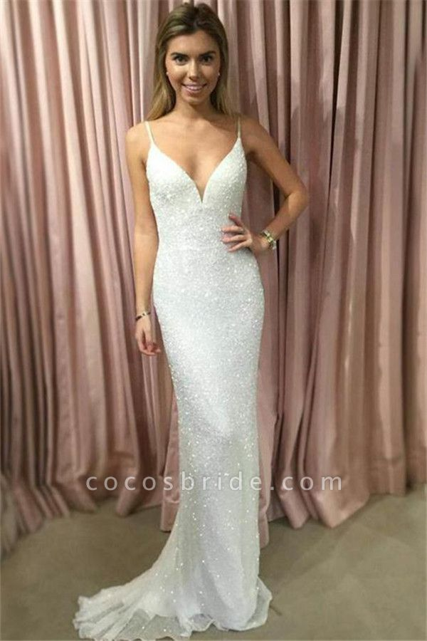 Chic Spaghetti Straps Mermaid Prom Dress