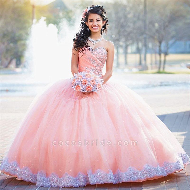 Beautiful Sweetheart Tulle Ball Gown Quinceanera Dress