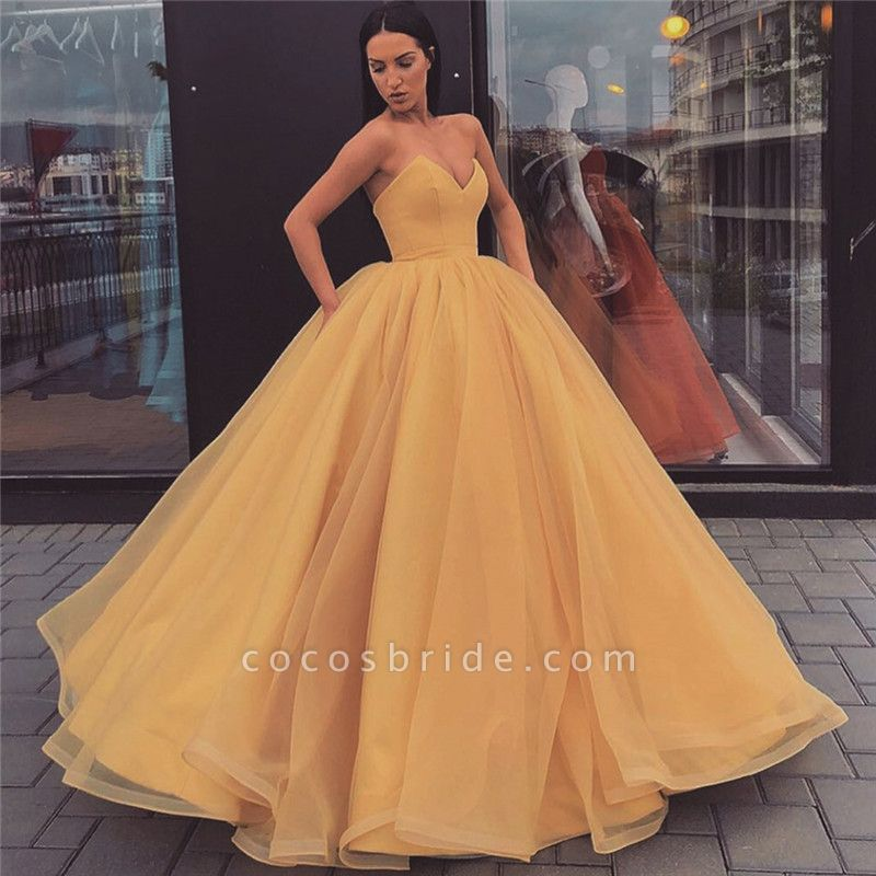 Best Sweetheart Tulle Ball Gown Prom Dress