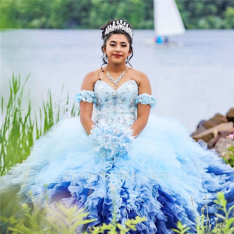 Precious Sweetheart Tulle Ball Gown Quinceanera Dress