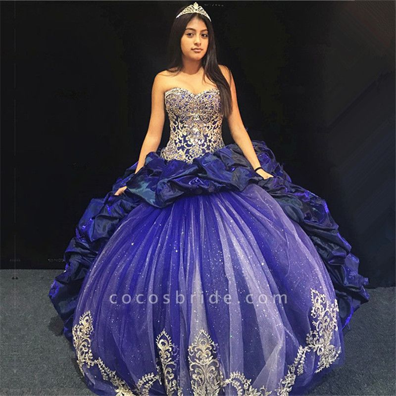 Excellent Sweetheart Tulle Ball Gown Quinceanera Dress