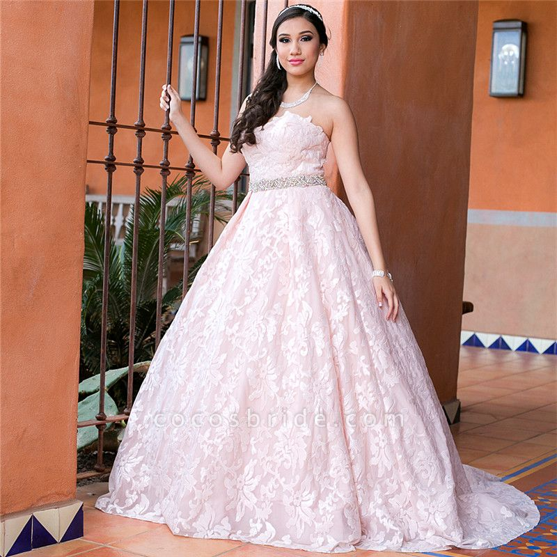 Glorious Sweetheart Lace A-line Prom Dress